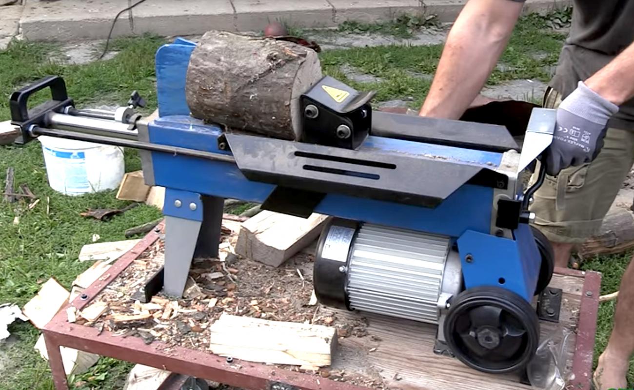 hyr maskin vedklyv scheppach hl 650 o - med fyrbladskniv! i