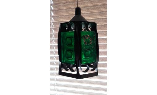 Fönsterlampa - grön