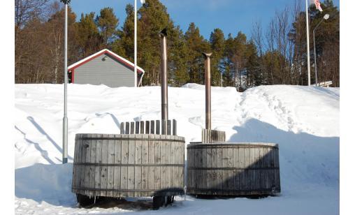 Vedeldad badtunna Lofsdalen