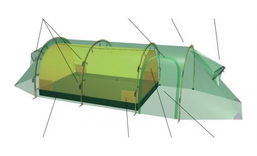 Smidigt tält, 4 pers - Vaxholm