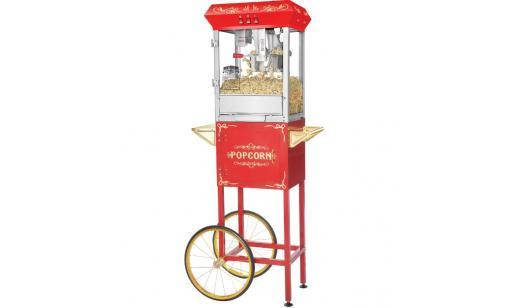 Popcornmaskin på vagn 6 L på 3 minuter